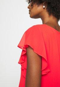 Lauren Ralph Lauren - CYRENA CAP SLEEVE DAY DRESS - Vapaa-ajan mekko - bright hibiscus - 4