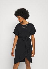 Vero Moda - VMPOPPY TIE SHORT DRESS - Shift dress - black - 3