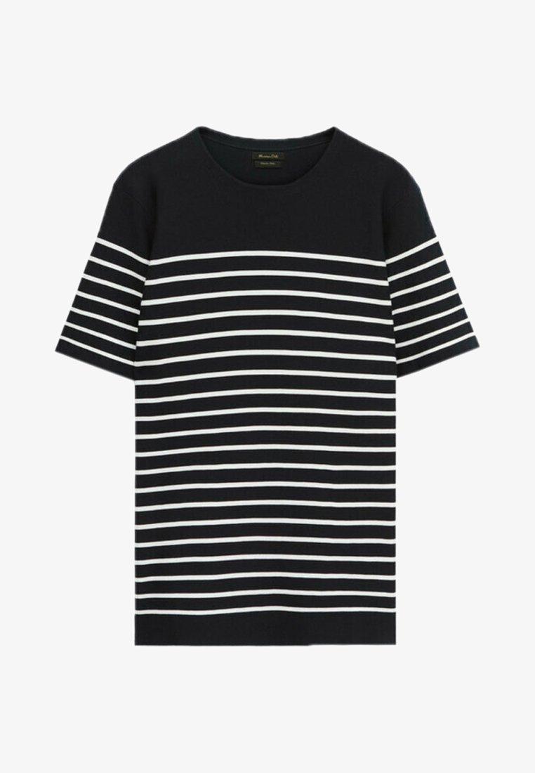 Massimo Dutti - Print T-shirt - blue black denim