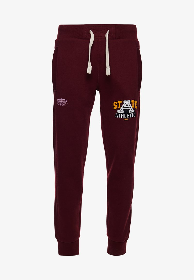 Superdry - Tracksuit bottoms - wine