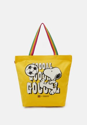 SNOOPY SPORT GOAL TOTE UNISEX - Tote bag - regular yellow