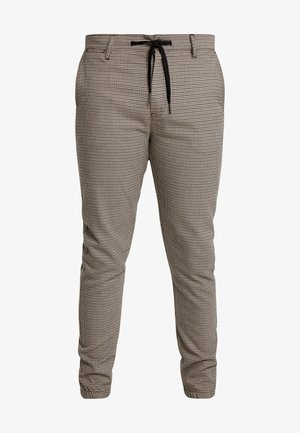 PANTS - Tygbyxor - dark earth brown