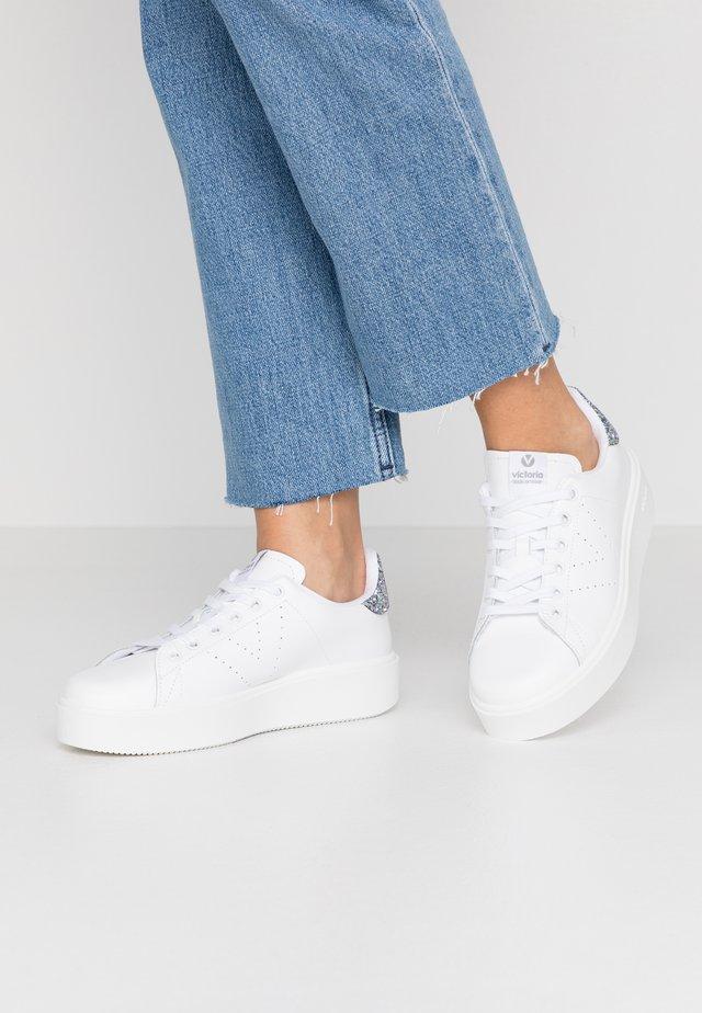 UTOPIA PIEL - Sneakers basse - antracita
