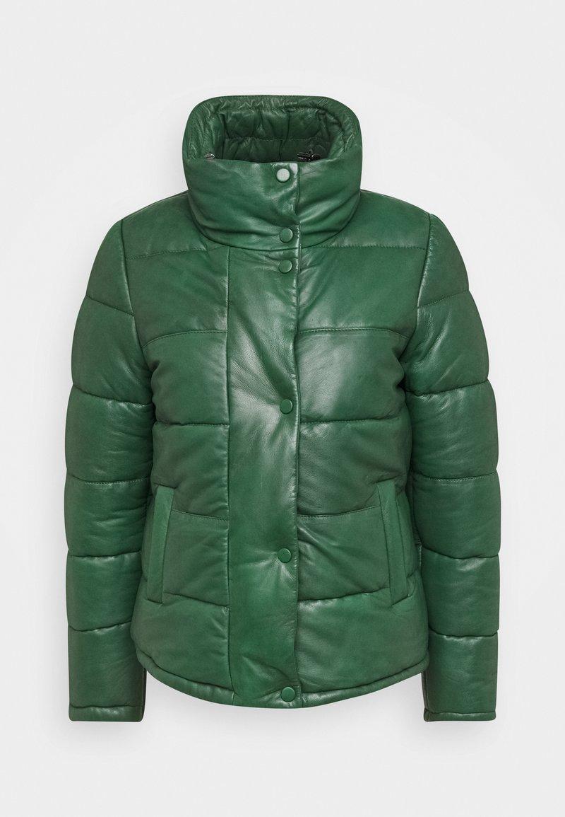 Oakwood - DOLLY - Leather jacket - dark green