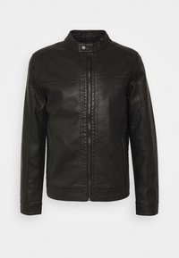 Jack & Jones - JJEWARNER JACKET  - Faux leather jacket - black - 4