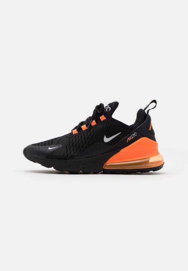AIR MAX 270 - Sneakers - black/metallic silver/total orange