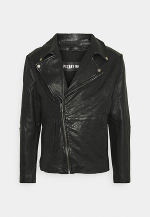 COOL RACE - Leather jacket - black