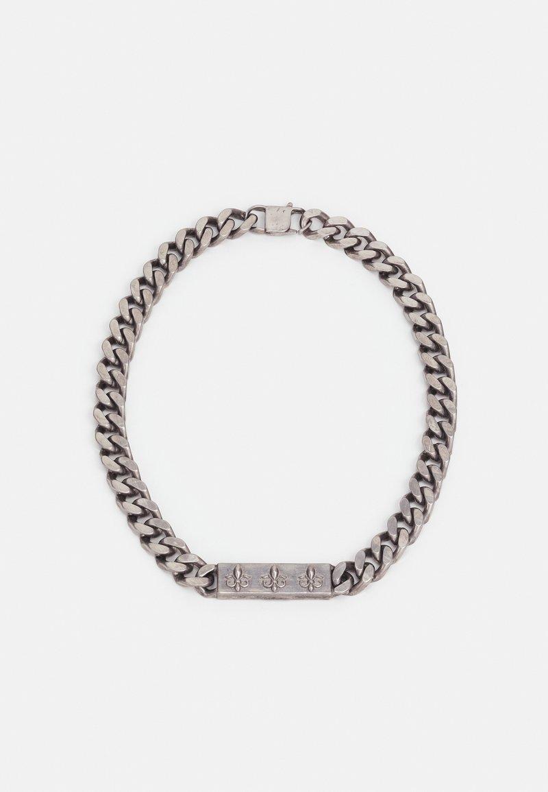 Guess - CURB PLATE UNISEX - Necklace - antique silver-coloured matt