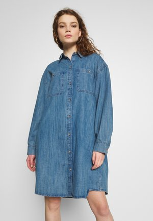 JEN DRESS - Denim dress - blue medium dusty