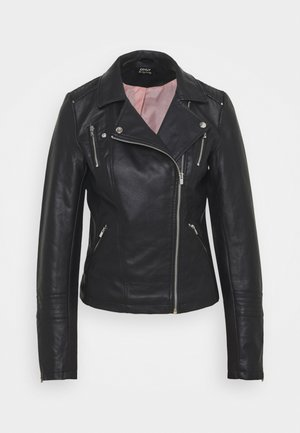ONLGEMMA BIKER  - Faux leather jacket - black