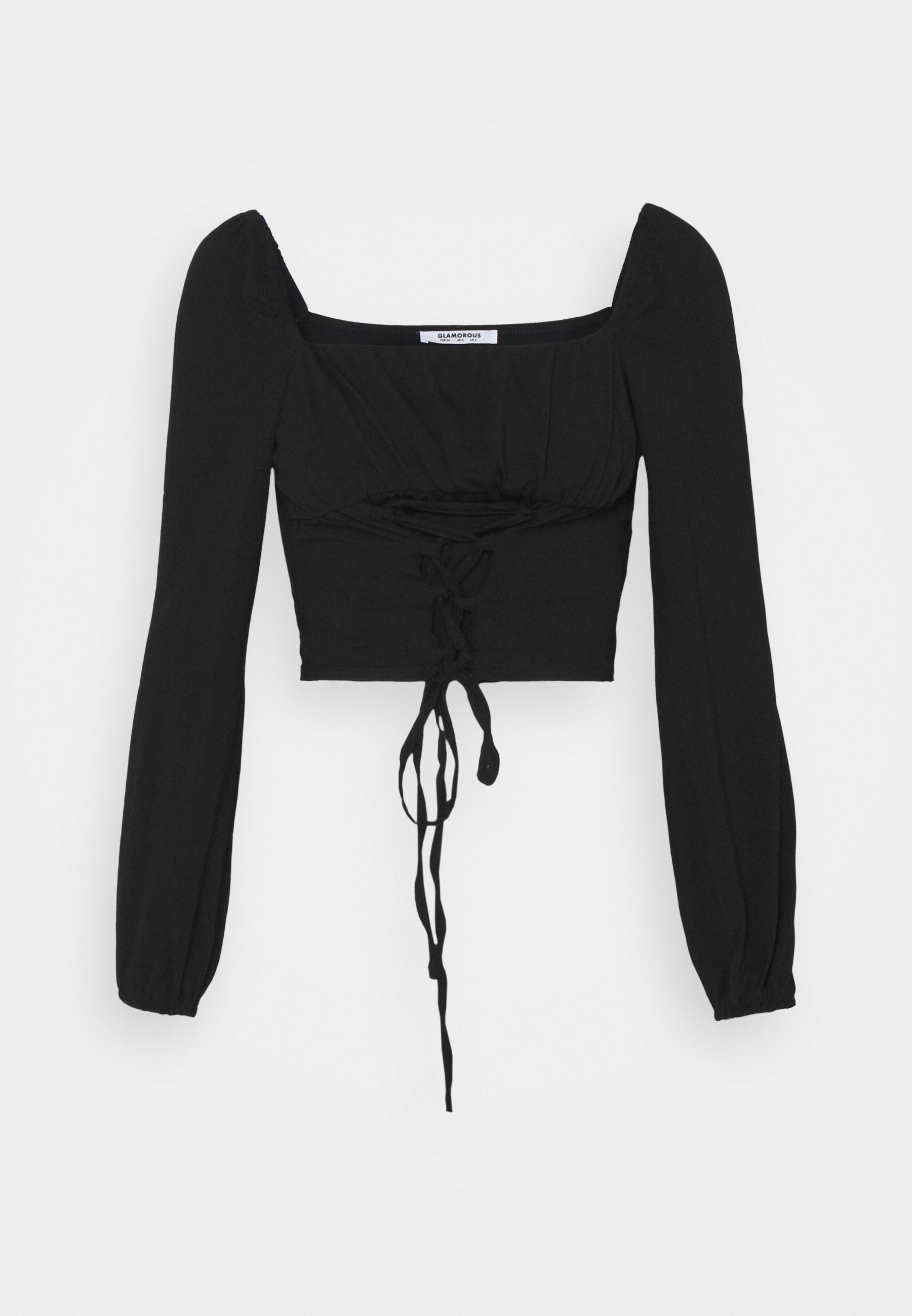 Women UP FRONT SQUARE NECK WITH PUFF LONG SLEEVES - Long sleeved top