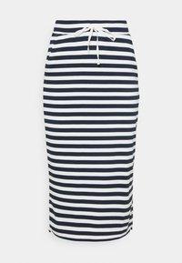 Vila - VITINNY  - Spódnica ołówkowa  - snow white/navy blazer stripes - 0