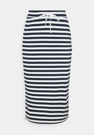 VITINNY  - Pencil skirt - snow white/navy blazer stripes