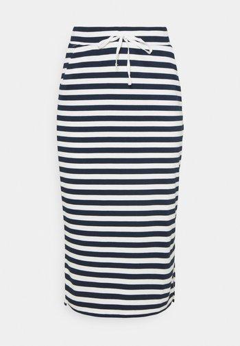 VITINNY  - Pouzdrová sukně - snow white/navy blazer stripes