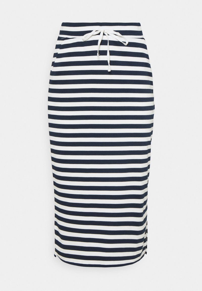 Vila - VITINNY  - Spódnica ołówkowa  - snow white/navy blazer stripes