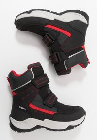 Geox - SENTIERO BOY WPF - Winter boots - black/red - 0