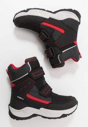 SENTIERO BOY WPF - Stivali da neve  - black/red