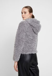 Miss Selfridge - HOODED SHORT - Winter jacket - grey - 2