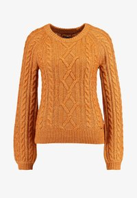 CABLE MOCKNECK - Svetr - brown