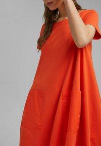 Esprit - DRESS - Jersey dress - orange red - 3