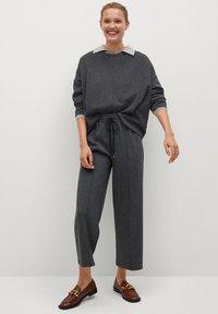 Mango - MIA - Trousers - dunkelgrau meliert - 1