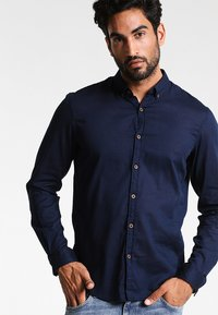 TOM TAILOR DENIM - Camisa - black iris blue - 0