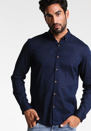 Shirt - black iris blue