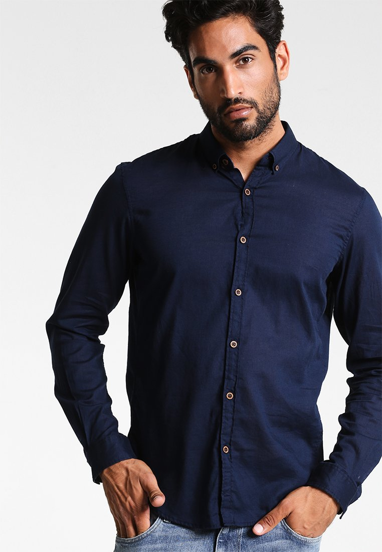 TOM TAILOR DENIM - Camicia - black iris blue