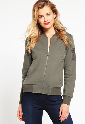 veste en sweat zippée - olive