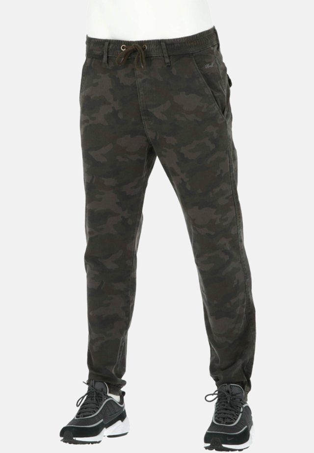 REFLEX - Jeans Straight Leg - black camo