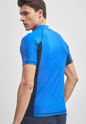BLACK SHORT SLEEVE - Rash vest - blue