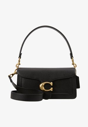 TABBY POLISHED SMALL FLAP BAG HANDBAG - Käsilaukku - black