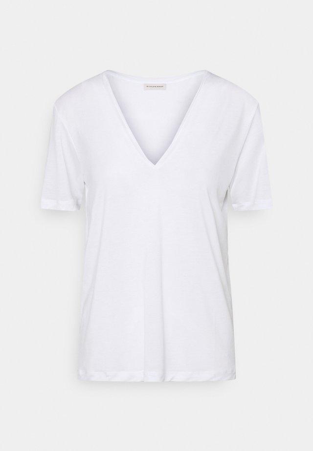 ANEILIA - Jednoduché triko - pure white