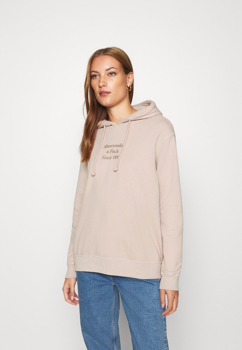 Abercrombie & Fitch - GEL LOGO SNAP POPOVER - Hoodie - pink