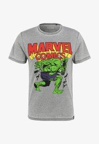 Re:Covered - MARVEL COMICS HULK  - T-shirt print - hellgrau - 1