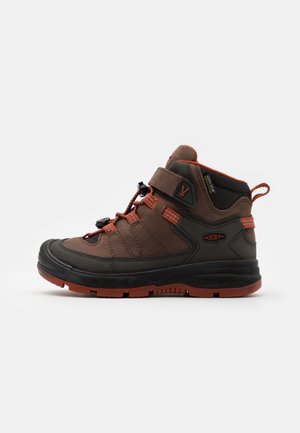 MID WP UNISEX - Hiking shoes - coffee bean/picante