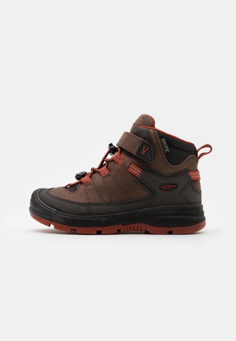Keen - MID WP UNISEX - Hiking shoes - coffee bean/picante