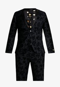 Twisted Tailor - KATRIN FLORAL FLOCK SUITPLUS - Suit - charcoal - 9