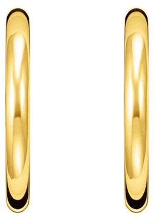 OHRKLEMME 925 STERLINGSILBER, 750 GELBGOLD VERGOLDUNG - Øreringe - gelbgoldfarben