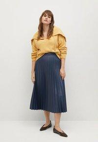 Violeta by Mango - PLISA - A-line skirt - azul - 1