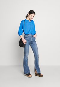 CLOSED - CHERRY - Button-down blouse - bluebird - 1