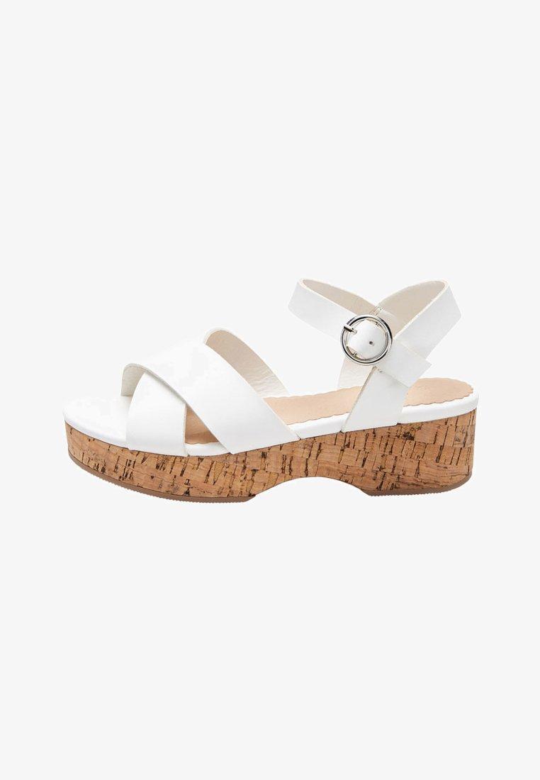 Next - WEDGE - Sandals - white
