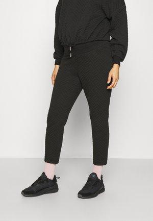 OLMSQUARE HIGHWAIST PANT - Spodnie treningowe - black