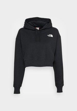 TREND CROP HOODIE  - Sweatshirt - black