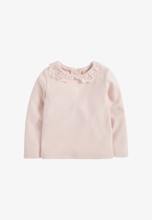 BRUSHED BRODERIE COLLAR  - Long sleeved top - pink
