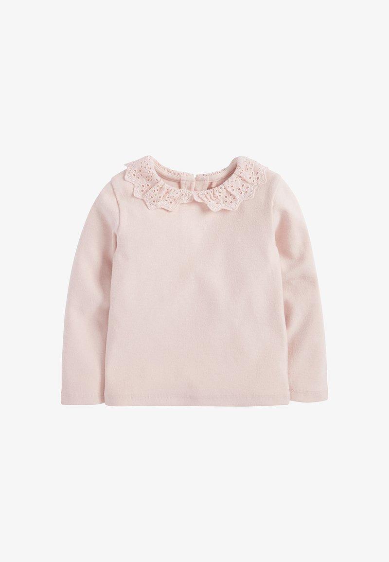 Next - BRUSHED BRODERIE COLLAR  - Langærmede T-shirts - pink