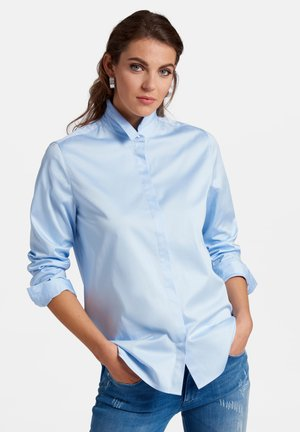 BLUSE IM OVERSIZED-SCHNITT - Button-down blouse - light blue