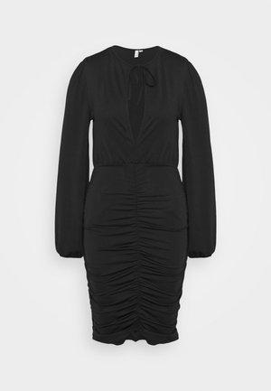 KEYHOLE TIE SLINKY DRESS - Vestido ligero - black