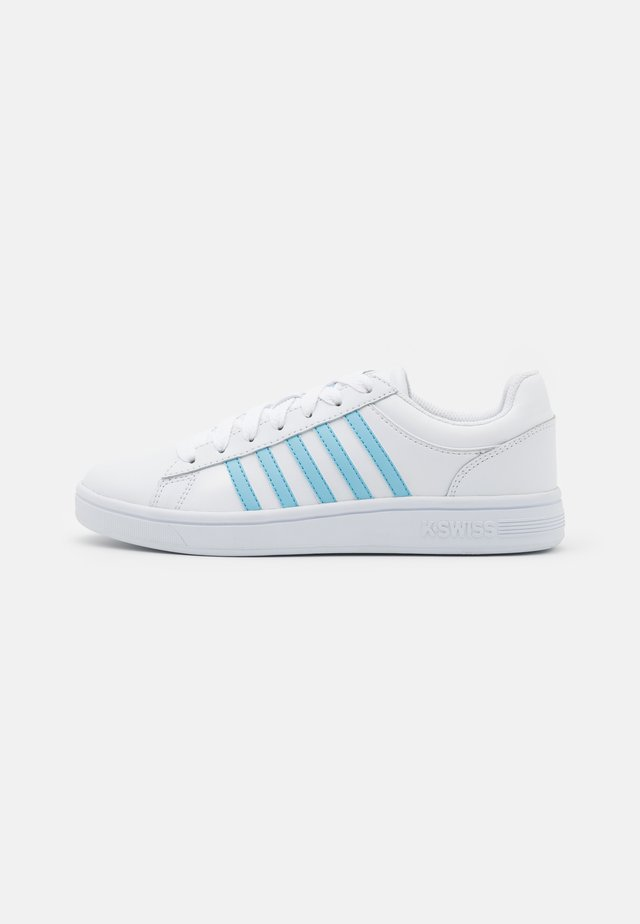COURT WINSTON - Sneakers laag - white/sky blue