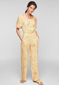 s.Oliver - Jumpsuit - sunlight yellow aop - 1